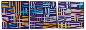 Gold Hay #1#2#3 triptych